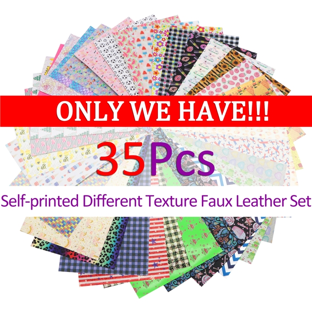 20*33cm synthetic leather ALL KINDS of Self-printed Texture Faux Leather Set Here