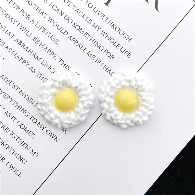 resin fried egg instant noodle resin accessories