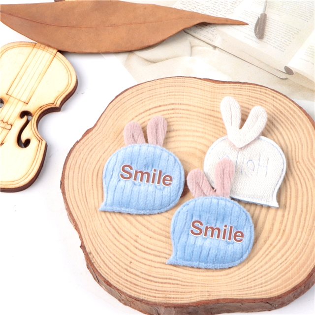 32*38mm fabric carrot ultrasonic embossed accessories