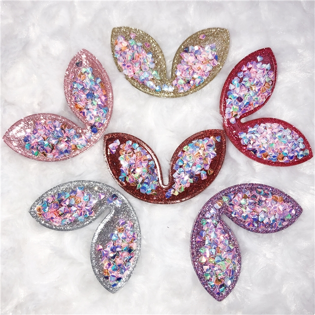 58*38mm ear translucent filled sequin accessories