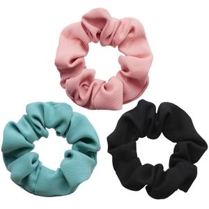 plain color hair scrunchies