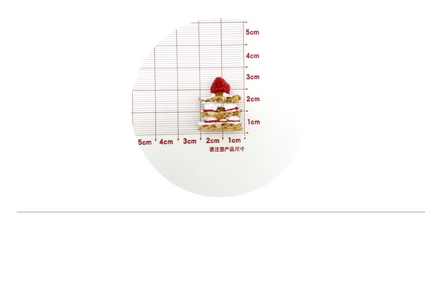 resin strawberry cake resin accessories