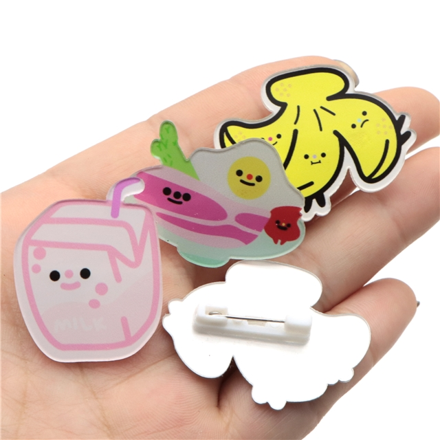 single sided sticker acrylic brooch