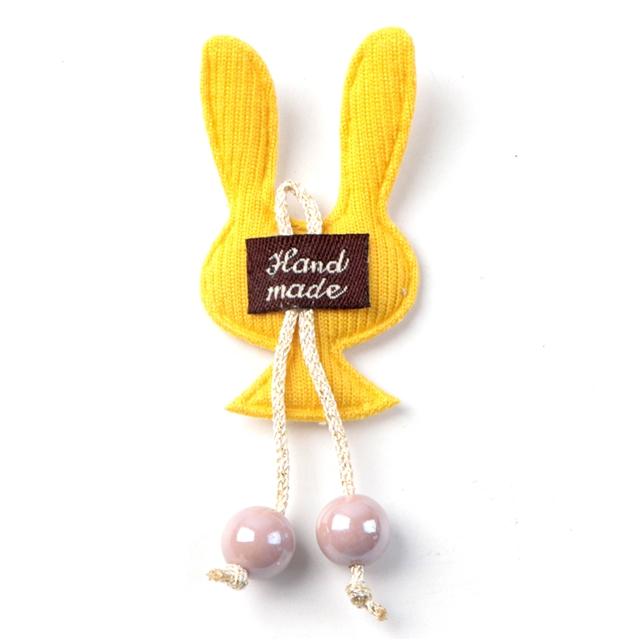 30*80mm fabric rabbit ultrasonic embossed accessories